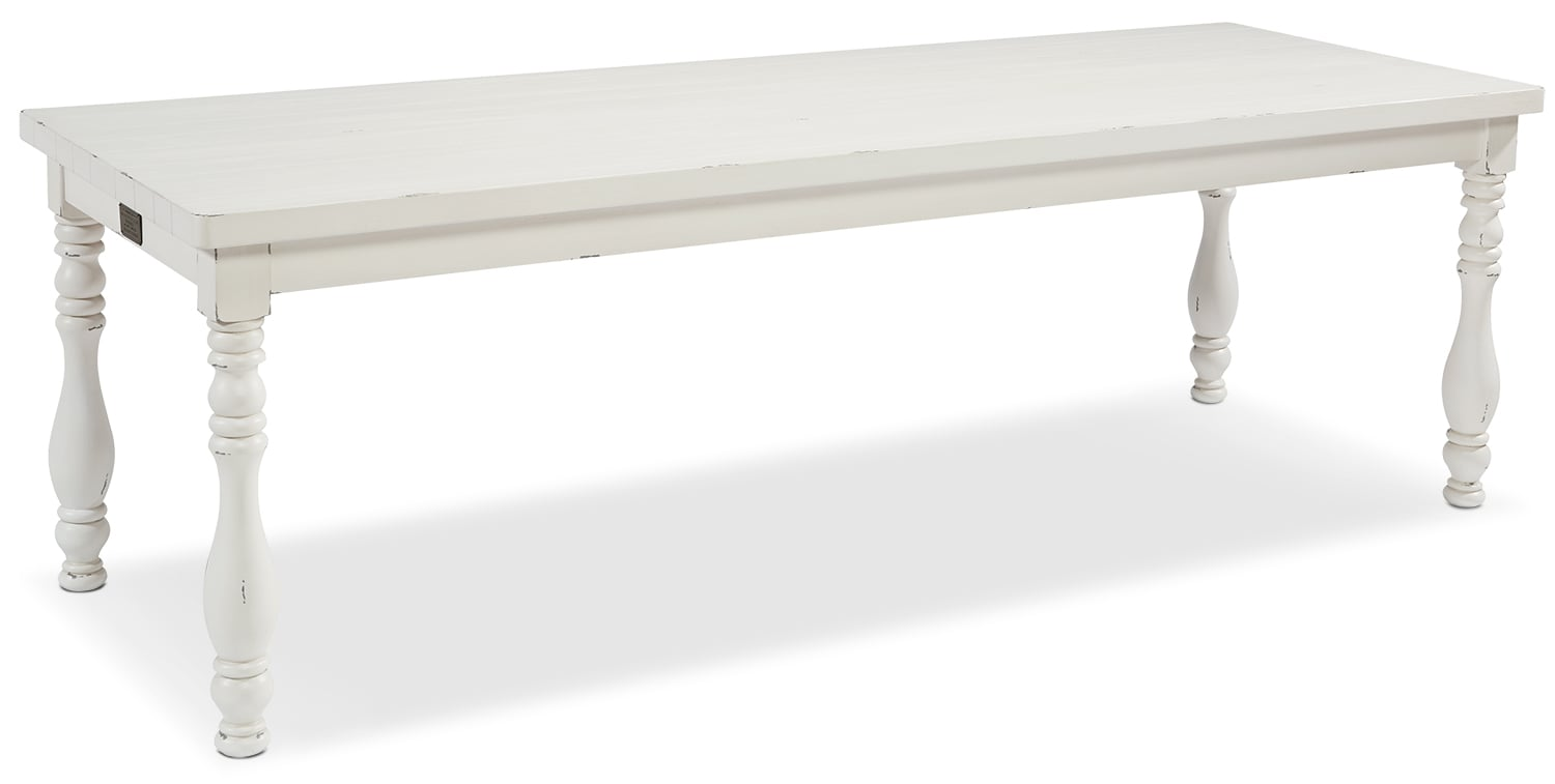 The Vase Turned Dining Table Collection - White