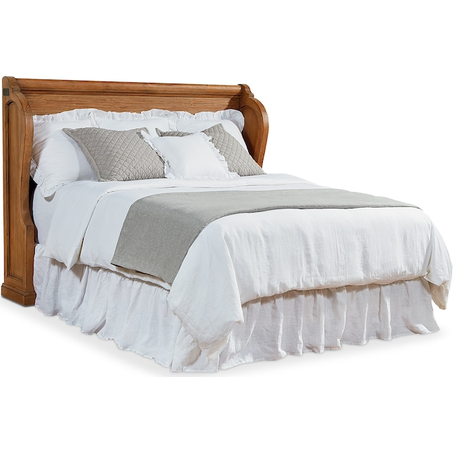 Bedroom Furniture - King Church Pew Headboard - Bench
