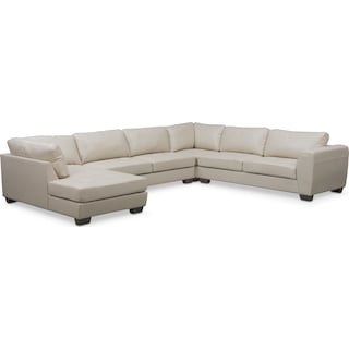 Santana 4-Piece Sectional with Left-Facing Chaise - Ivory