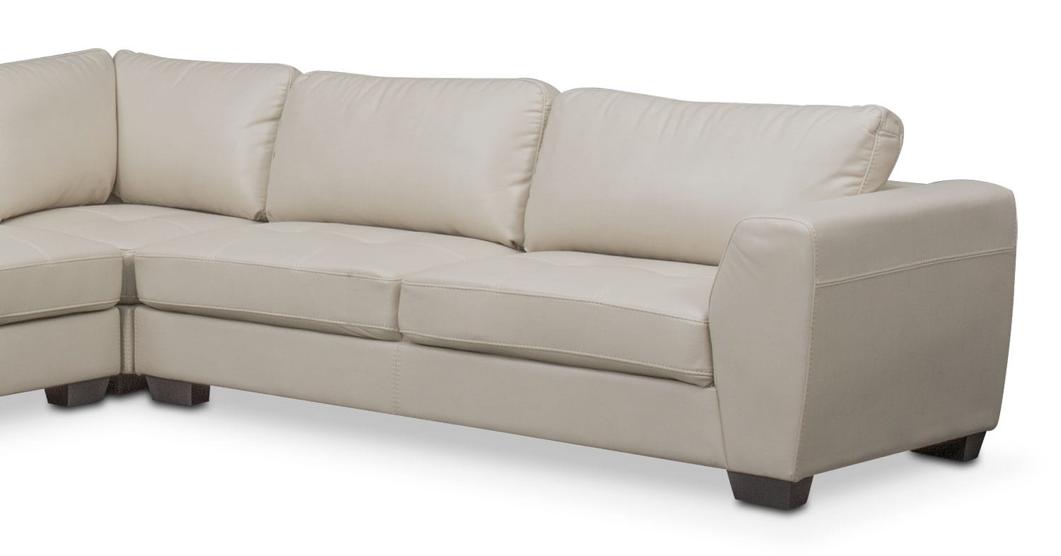 santana 4piece sectional with leftfacing chaise ivory