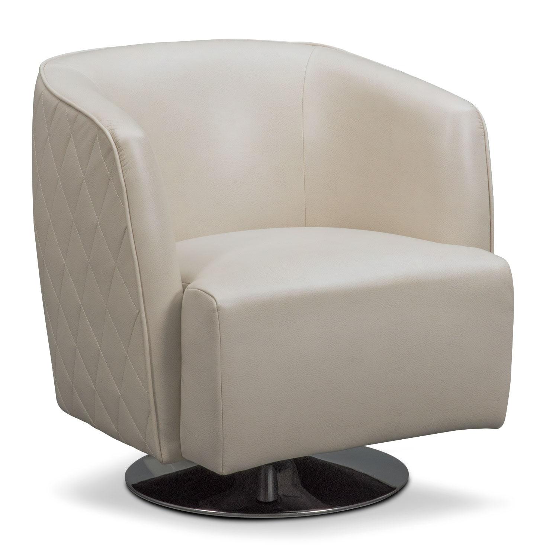 Santana Swivel Chair - Ivory