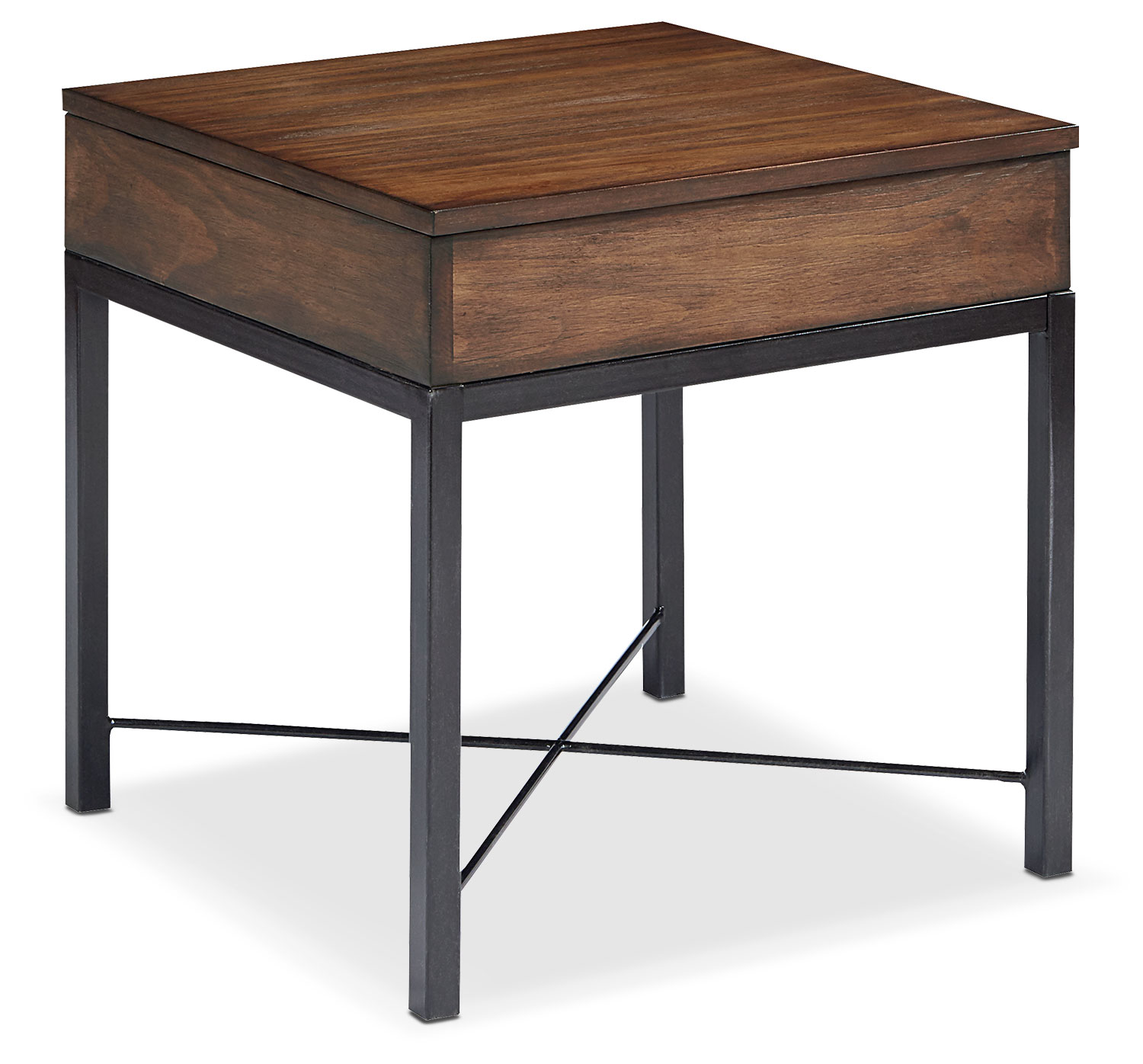 Industrial Lift Top End Table