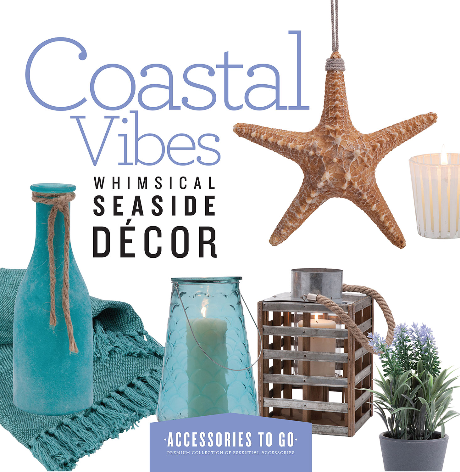 Home Accessories - Coastal Vibes 18-Piece Accessory Set