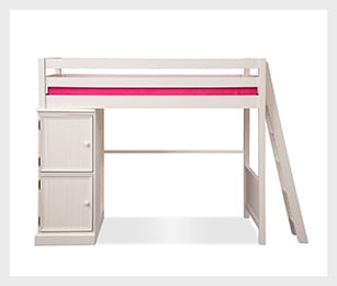 Colorworks White II loft bed