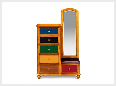 Colorworks pine tall chest & mirror