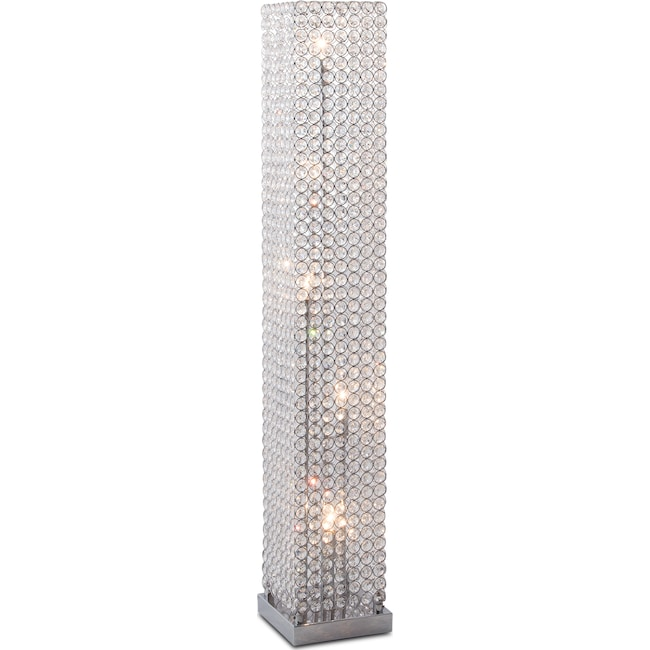 Home Accessories Crystal Tower Floor Lamp
