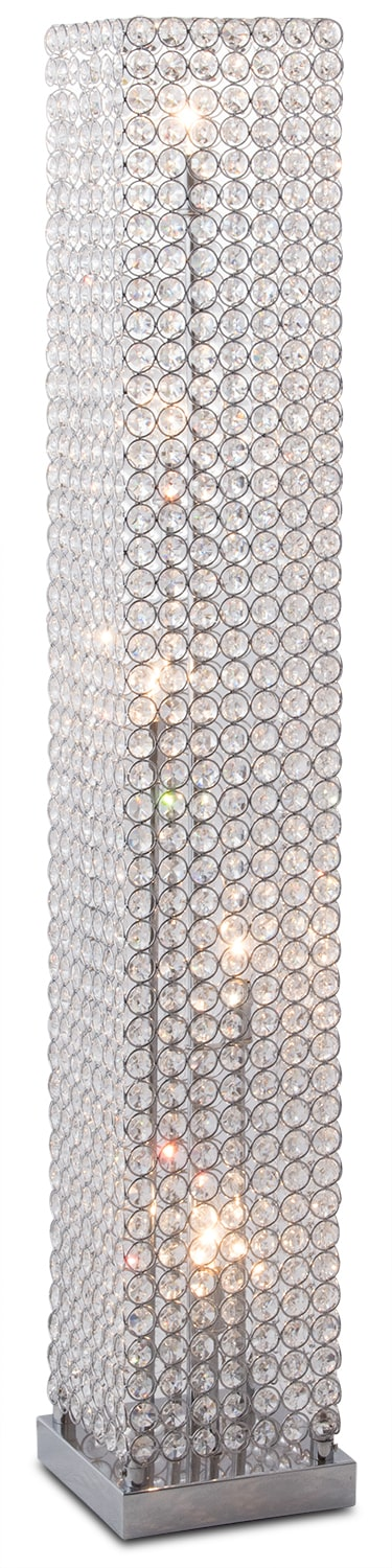 Exceptional Crystal Tower Floor Lamp