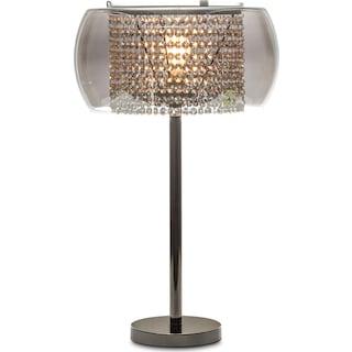 Crystal Table Lamp - Matte Black