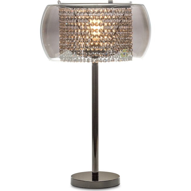Home Accessories - Crystal Table Lamp - Matte Black