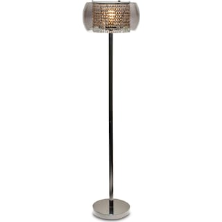 Crystal Floor Lamp - Matte Black