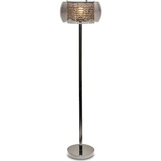 Crystal Floor Lamp - Matte Black