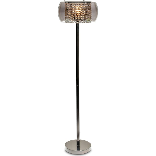 Home Accessories - Crystal Floor Lamp - Matte Black