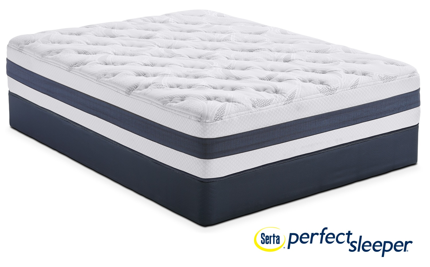 Mattresses and Bedding - Landing Manor Plush King Mattress and Split Low-Profile Foundation Set