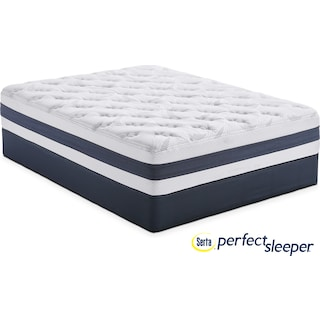 Landing Manor Plush Twin Mattress and Foundation Set