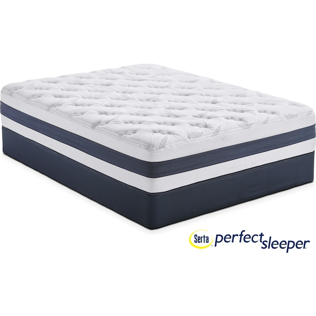 Mattresses and Bedding - Landing Manor Plush King Mattress and Split Foundation Set