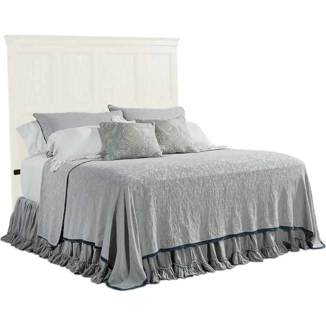 Bedroom Furniture - Primitive Door Panel King Headboard - White