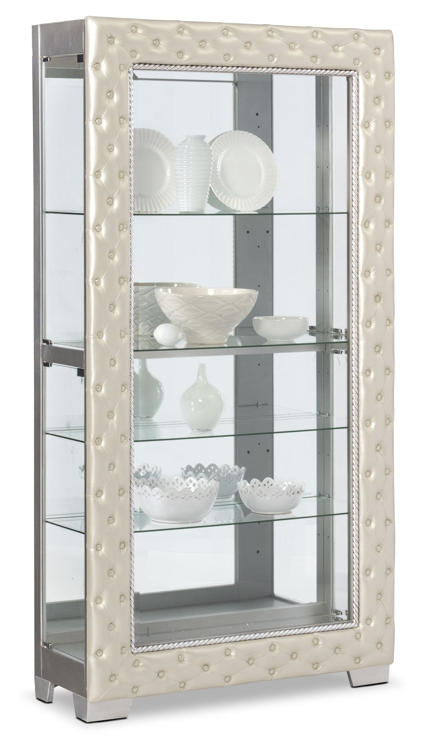 Accent and Occasional Furniture - LaSalle Curio - Pearl