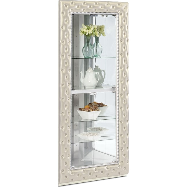 Accent and Occasional Furniture - LaSalle Corner Curio - Pearl