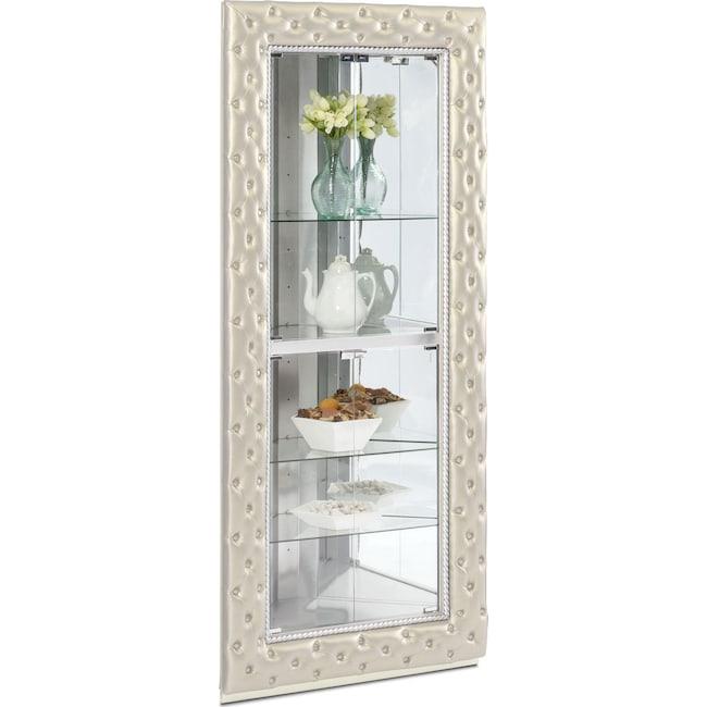 Dining Room Furniture - LaSalle Corner Curio - Pearl