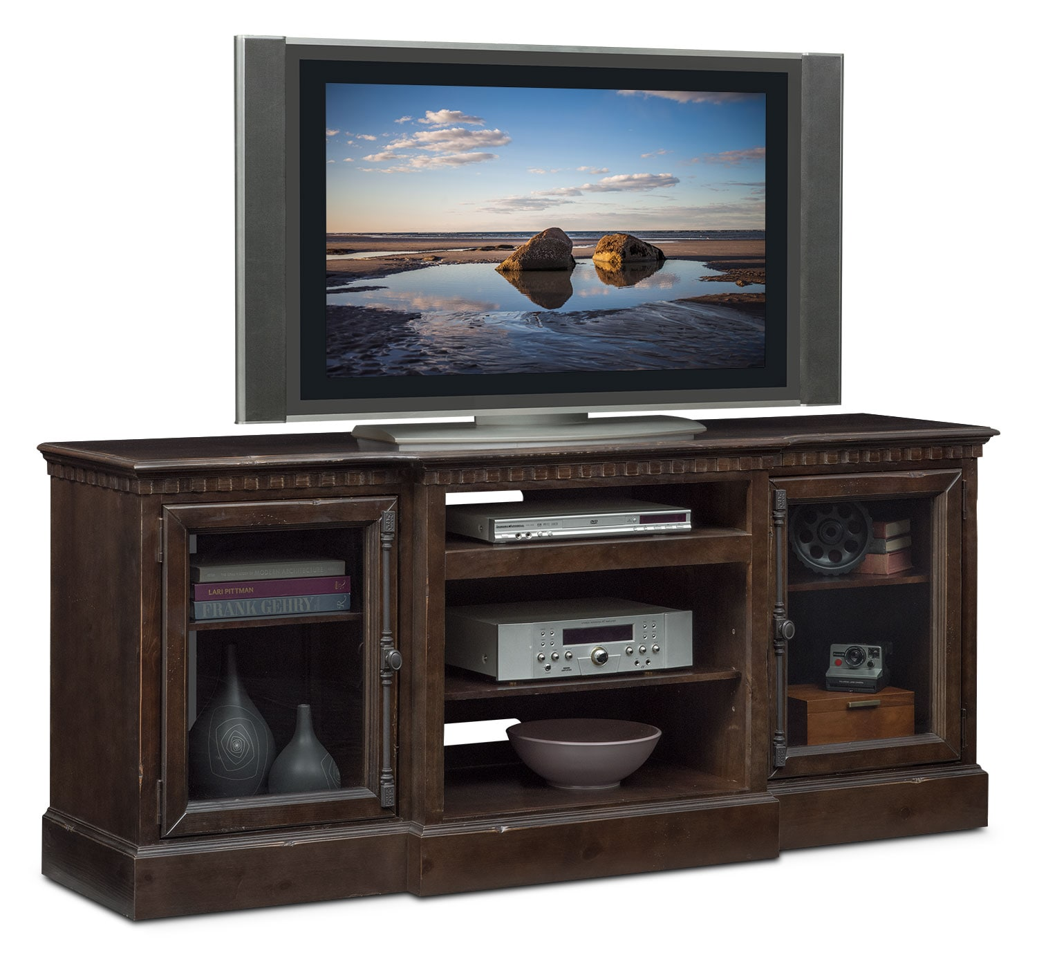 "Entertainment Furniture - Claridge 74"" Media Stand - Tobacco"