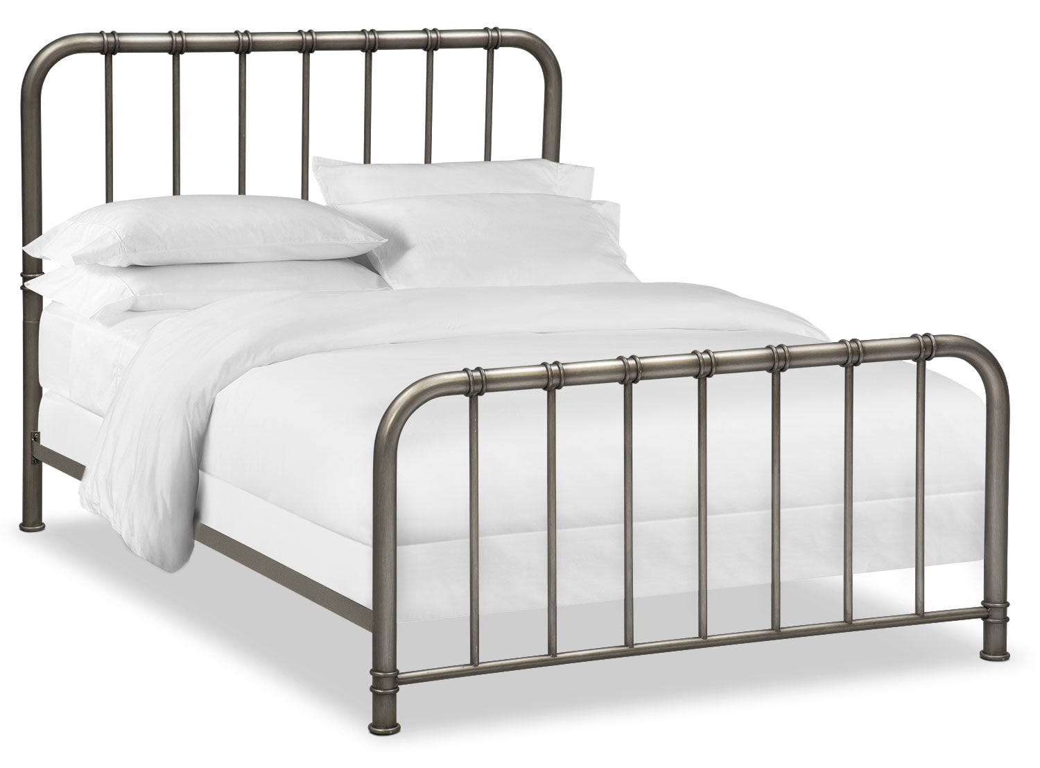 Bedroom Furniture - Pendleton King Bed - Gunmetal