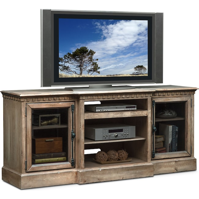 "Entertainment Furniture - Claridge 74"" Media Stand - Gray"