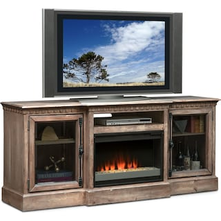 Claridge Fireplace Media Stand
