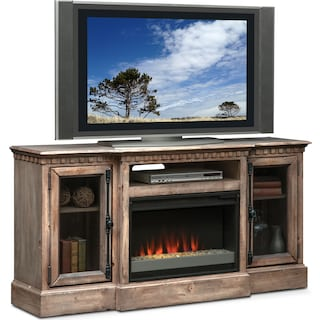 "Claridge 64"" Contemporary Fireplace Media Stand - Gray"