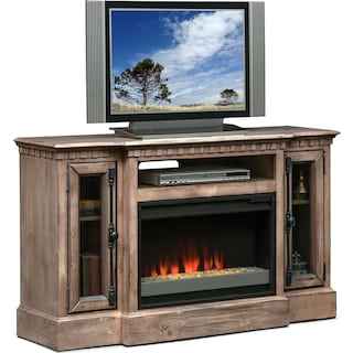"Claridge 54"" Contemporary Fireplace Media Stand - Gray"