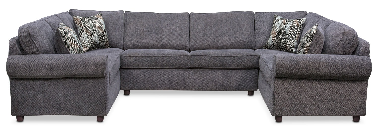 Lakelyn 3-Piece Sectional - Charcoal