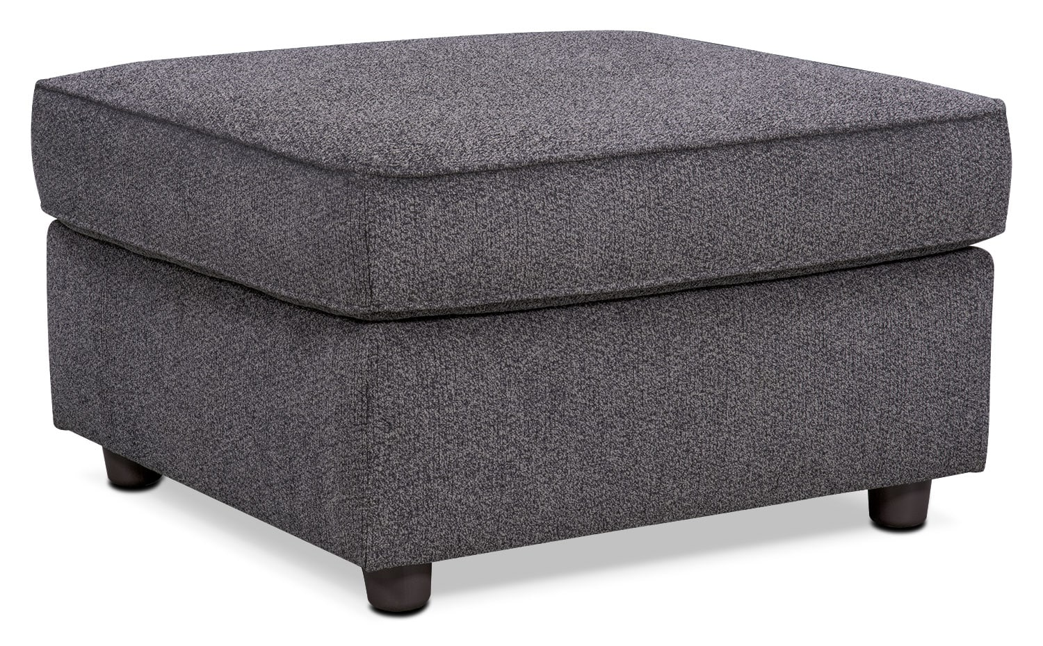 Lakelyn Ottoman - Charcoal