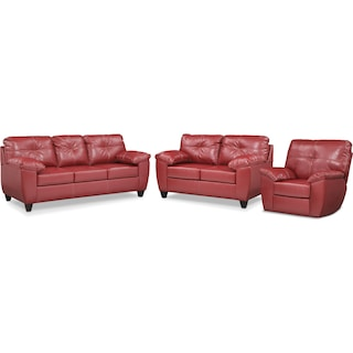 The Ricardo Living Room Collection - Cardinal