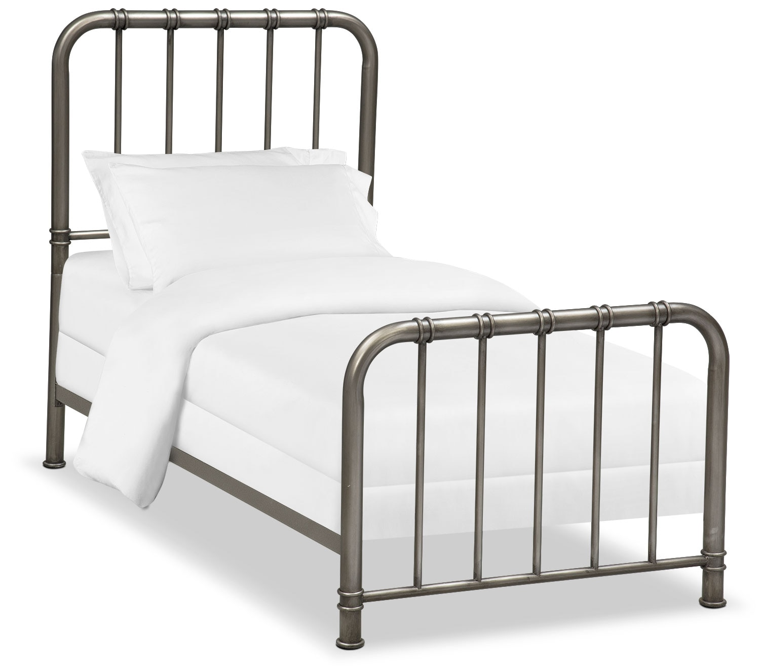 Bedroom Furniture - Pendleton Youth Full Bed - Gunmetal