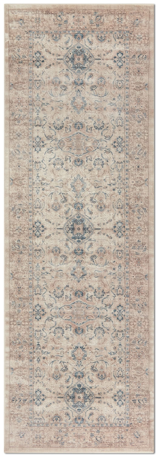 Rugs - Ella Rose 3' x 11' Rug - Bone