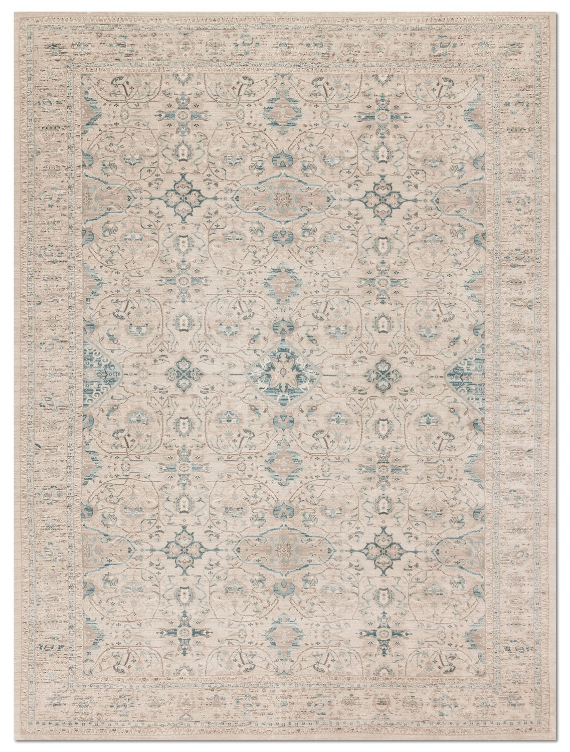 Rugs - Ella Rose 13' x 18' Rug - Bone