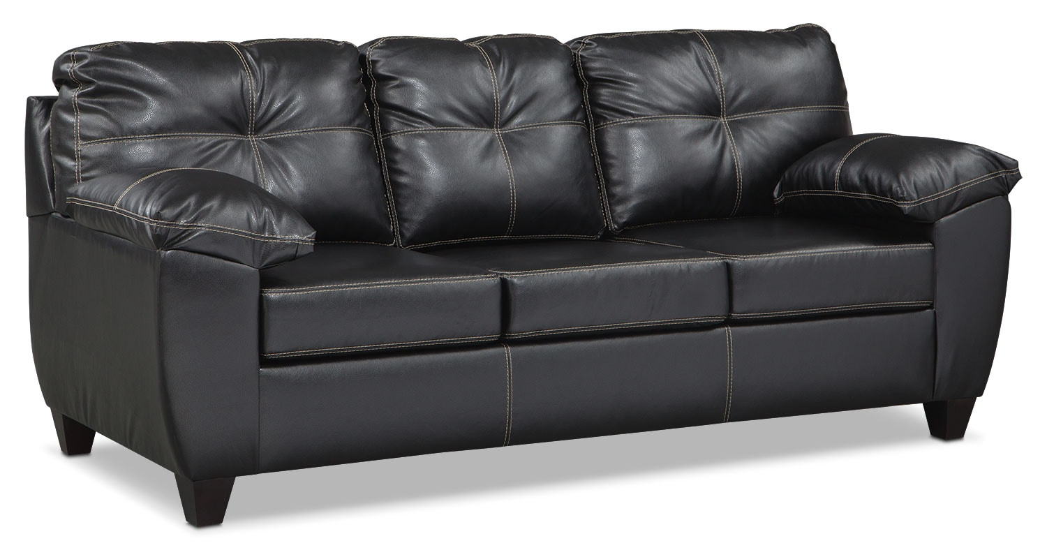 Living Room Furniture - Rialto Sofa - Onyx