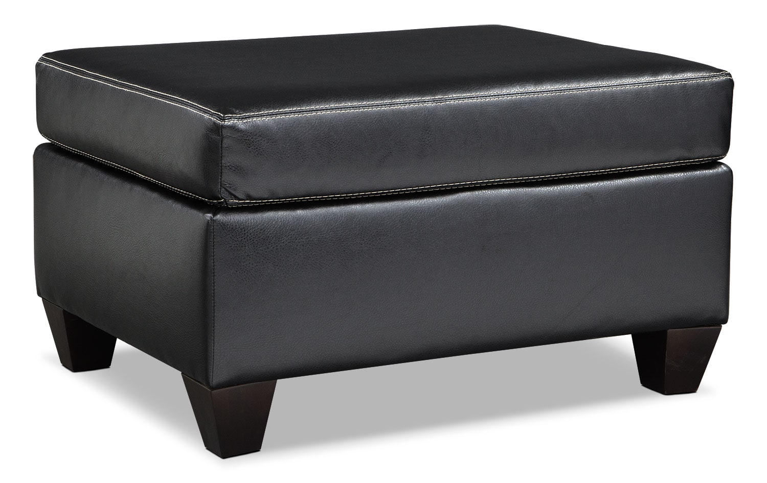 Living Room Furniture - Rialto Ottoman - Onyx