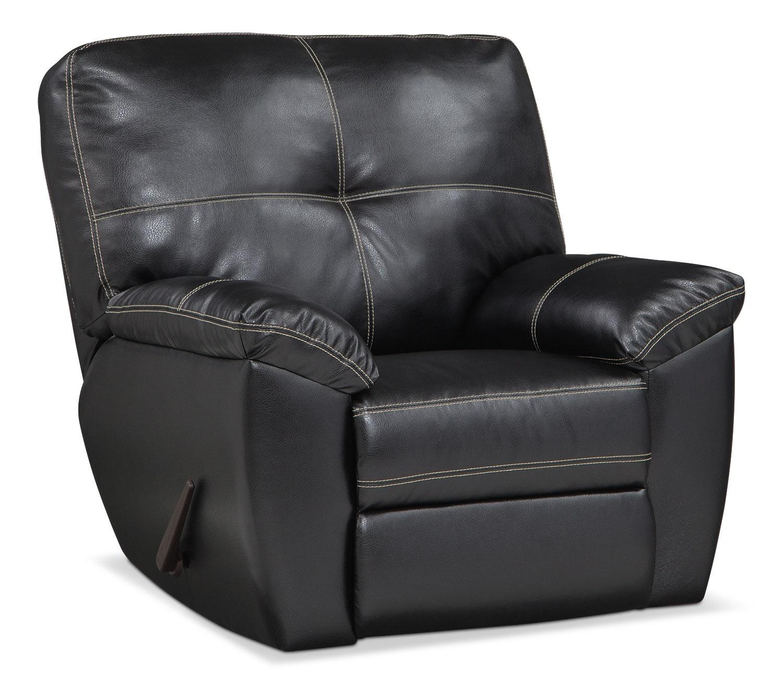 Living Room Furniture - Rialto Glider Recliner - Onyx