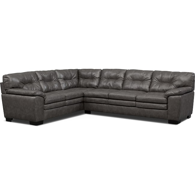Living Room Furniture Magnum 2 Piece Sectional With Right Facing Sofa