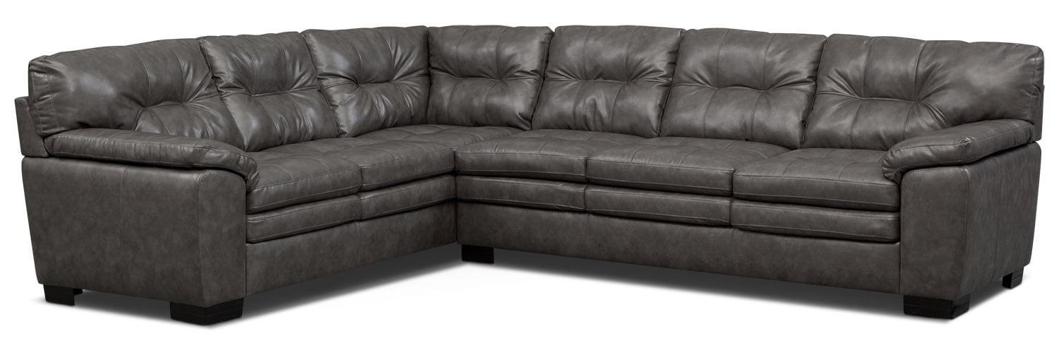 value city furniture leather sectional
