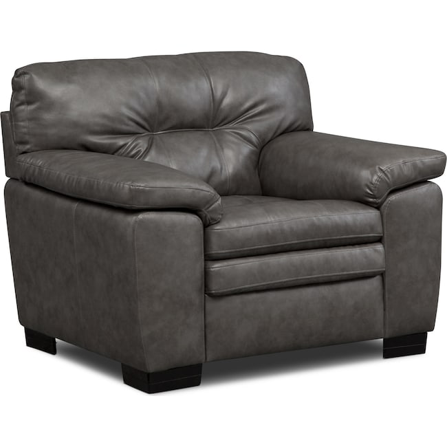 Living Room Furniture - Magnum Chair - Gray