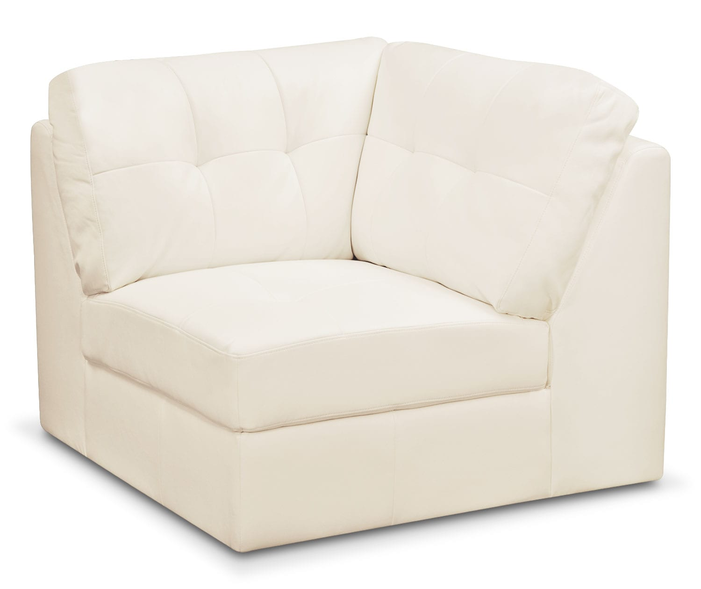 Living Room Furniture - Cayenne Corner Wedge - White
