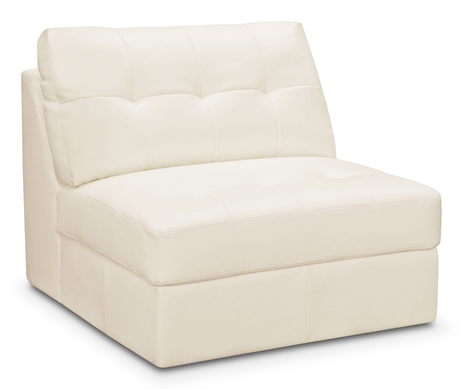 Living Room Furniture - Cayenne Armless Chair - White