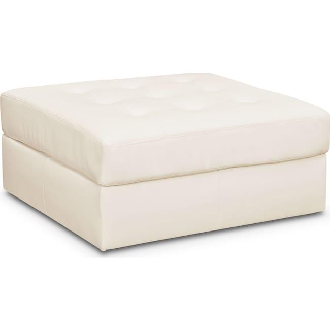 Living Room Furniture - Cayenne Ottoman - White