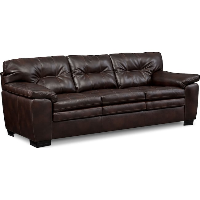 Living Room Furniture - Magnum Sofa - Brown
