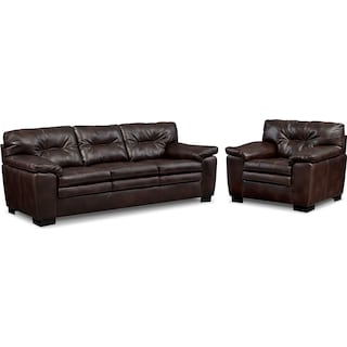 Magnum Sofa and Chair Set - Brown