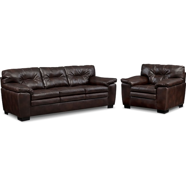Living Room Furniture - Magnum Sofa and Chair Set