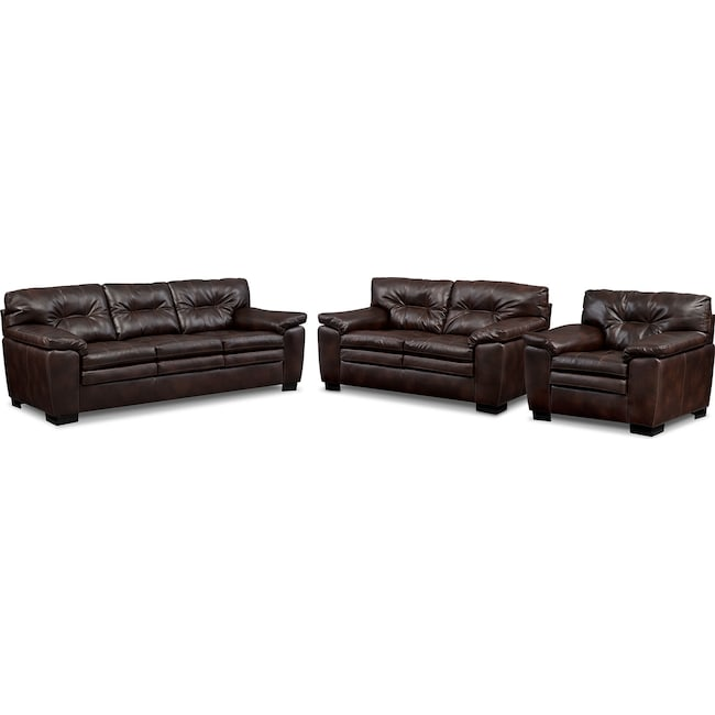 Living Room Furniture - Magnum Sofa, Loveseat and Chair