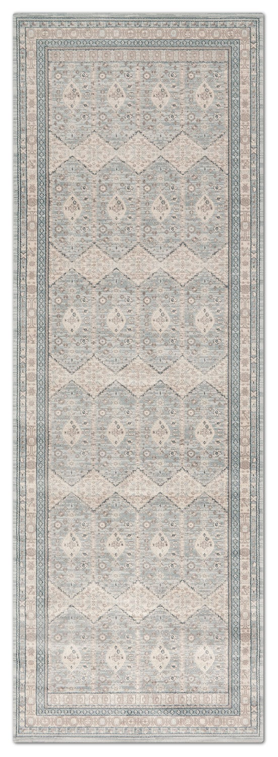 Rugs - Ella Rose 3' x 11' Rug - Mist and Stone