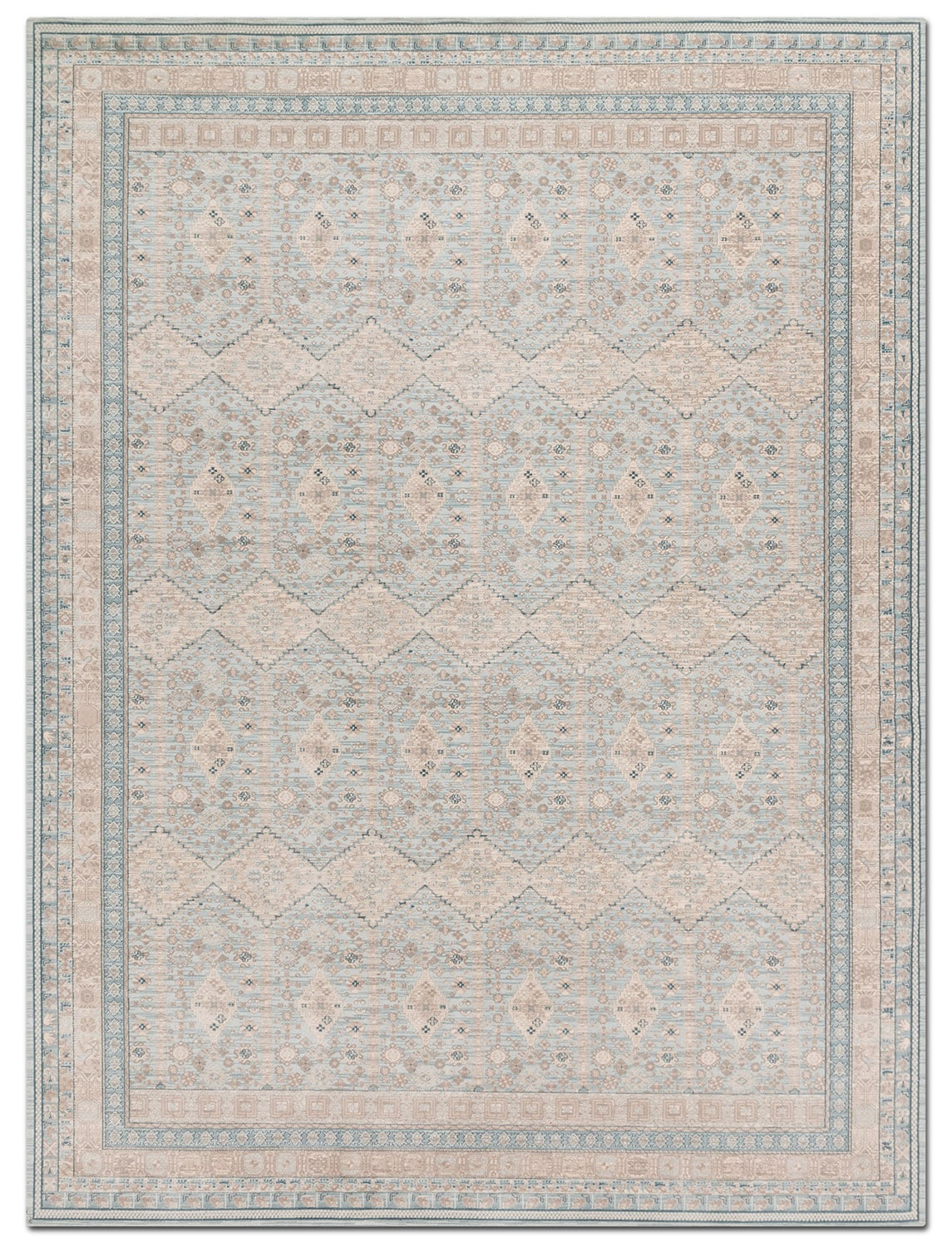 Ella Rose 5' x 8' Rug - Mist and Stone